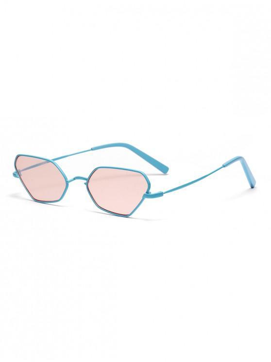 new Irregular Metal Small Sunglasses - LIGHT PINK