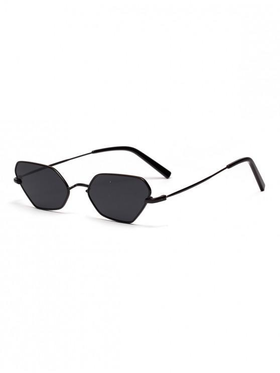 latest Irregular Metal Small Sunglasses - BLACK