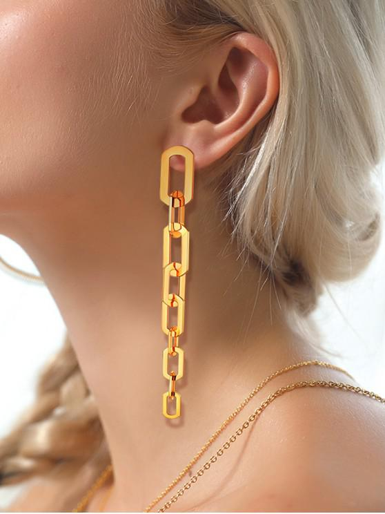 best Link Chain Dangle Drop Earrings - GOLD