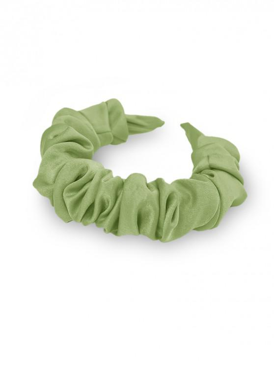 outfits Solid Fabric Folds Wide Hairband - MINT GREEN