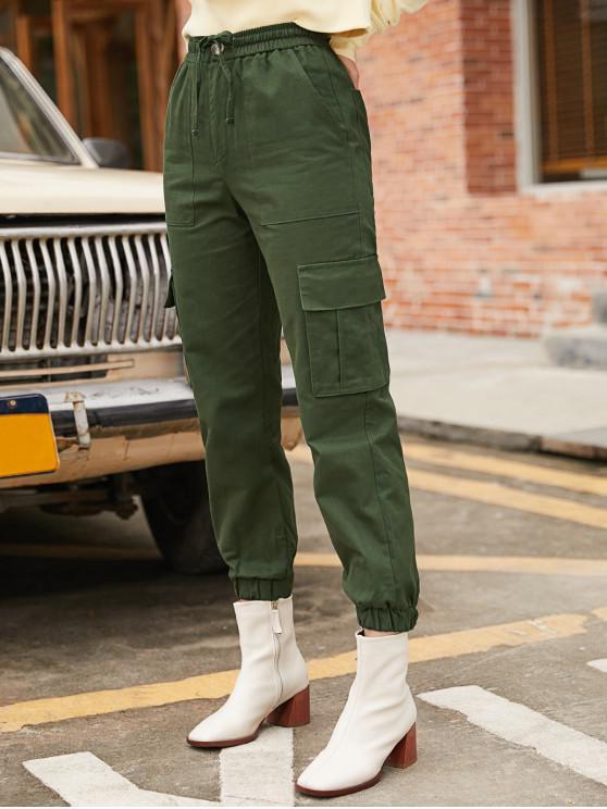 Los pantalones de color Mosca de la cremallera del basculador de sólidos - Ejercito Verde M