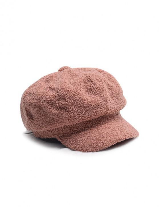 Diseño del color sólido de la boina sombrero mullido - Castaña
