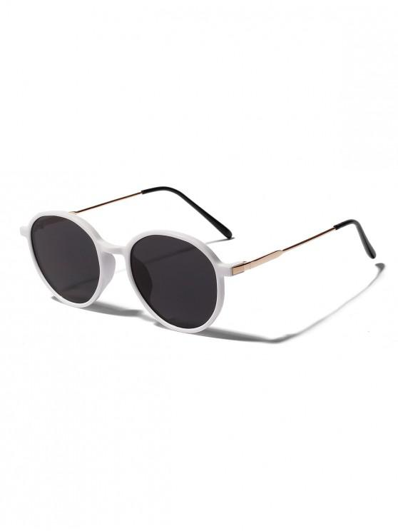 latest Unisex Anti UV Round Sunglasses - WHITE