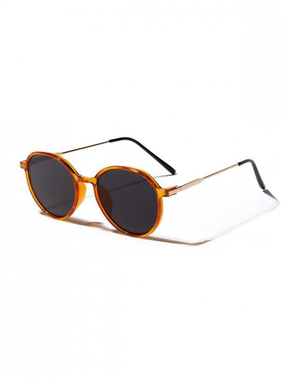 Unisex ป้องกันรังสียูวีแว่นกันแดดทรงกลม - ส้มฟักทอง