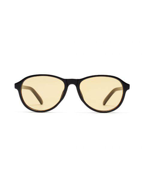 Прозрачная оправа Нерегулярные Плоские Солнцезащитные очки - Чёрный  Mobile