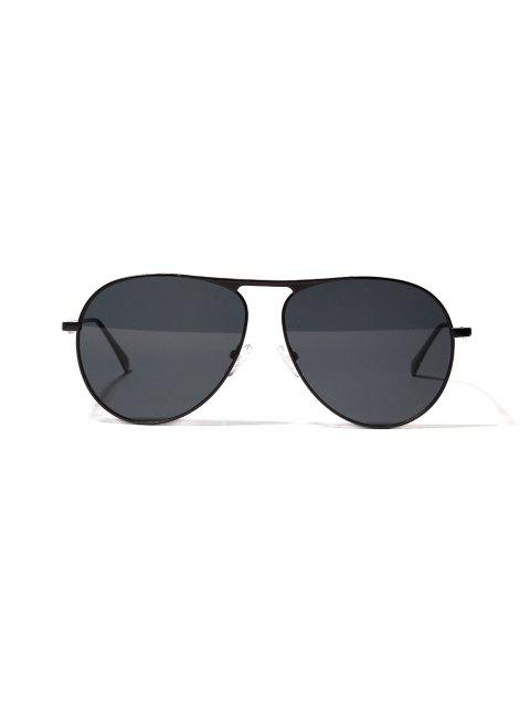 Lunettes de Soleil Anti-UV en Métal - Noir  Mobile