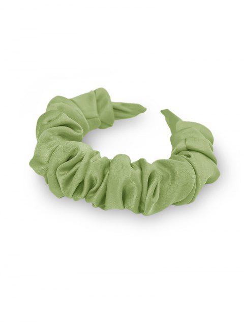 Одноцветная Широкая Головная Повязка - Мятно-зеленый  Mobile