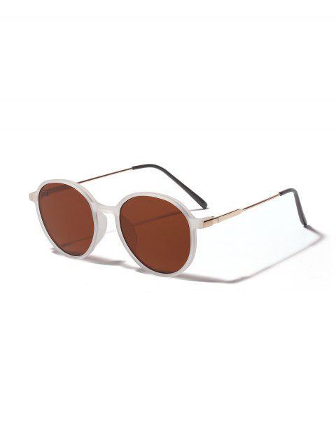 Унисекс Анти-UV Круглые Солнцезащитные Очки - Светло-коричневый  Mobile