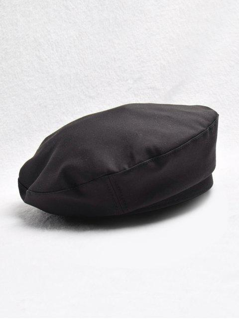 unique Vintage Solid Color Decoration Beret Hat - BLACK  Mobile
