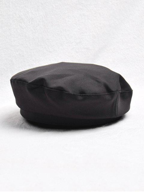 Decoración de la vendimia del color sólido de la boina del sombrero - Negro  Mobile
