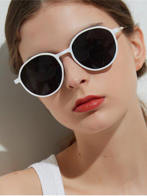 Lunettes de Soleil Rondes Unisexes Anti-UV - Blanc  Mobile