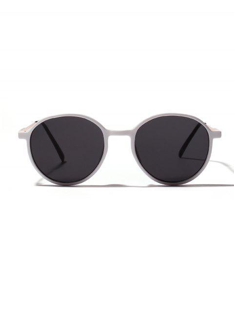 Унисекс Анти-UV Круглые Солнцезащитные Очки - Белый  Mobile