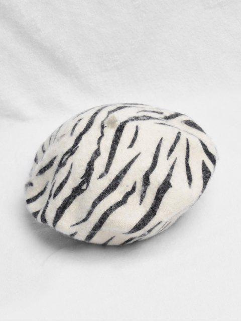 women Retro Zebra Print Beret Hat - MULTI-A  Mobile