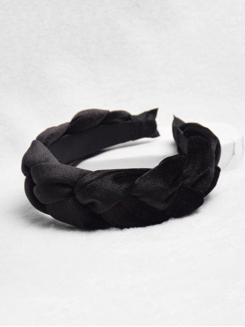 outfit Fried Dough Twist Design Headband - BLACK  Mobile