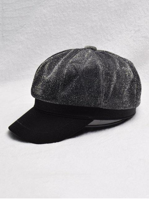 trendy British Solid Color Design Beret Hat - BLACK  Mobile
