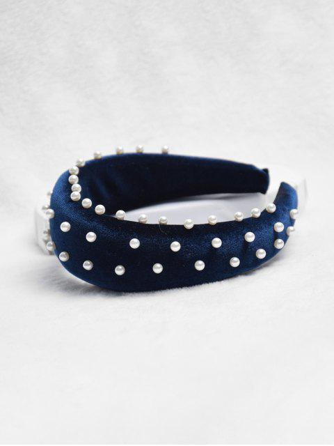 Bandeau Chic Décoré de Fausse Perle - Cadetblue  Mobile