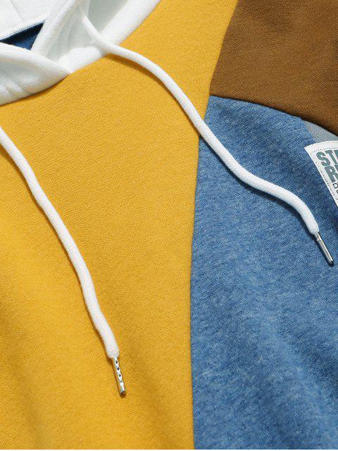 Terrón del color casual con capucha con cordón - Multicolor-A 2XL Mobile