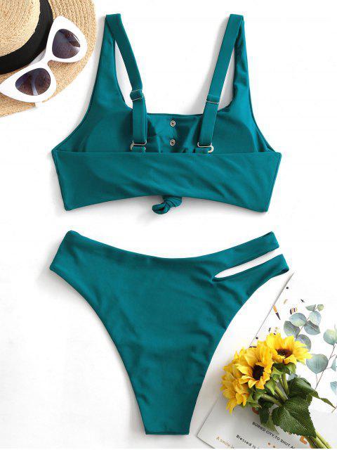 ZAFUL ojales nudo fotografica bikini - Azul Eléctrico L Mobile