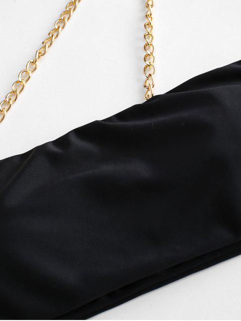ZAFUL Maillot de Bain Bikini à Chaîne Coupe Haute à Une Epaule - Noir M Mobile