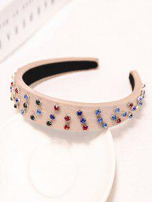 Colored Rhinestone Wide Hairband