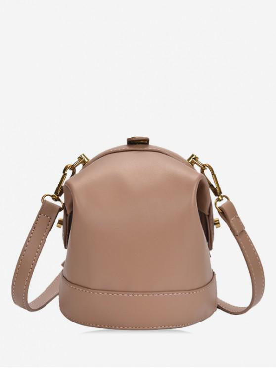 outfit Solid Small Shoulder Bag - KHAKI
