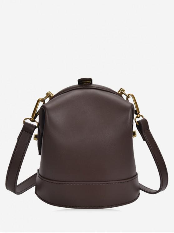 women's Solid Small Shoulder Bag - DEEP COFFEE