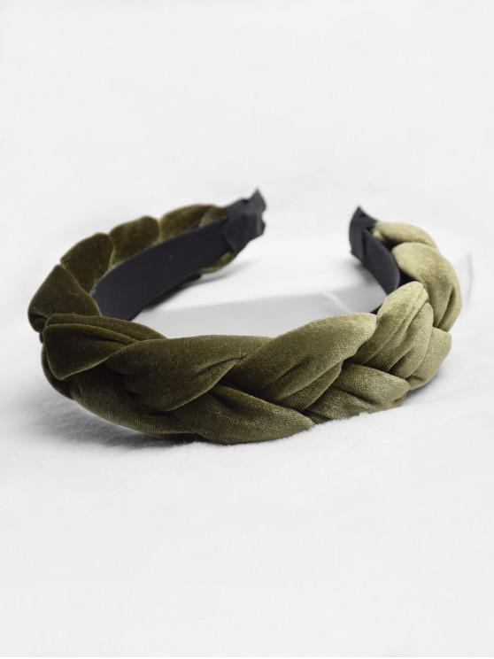 麻花設計頭帶 - 蕨綠