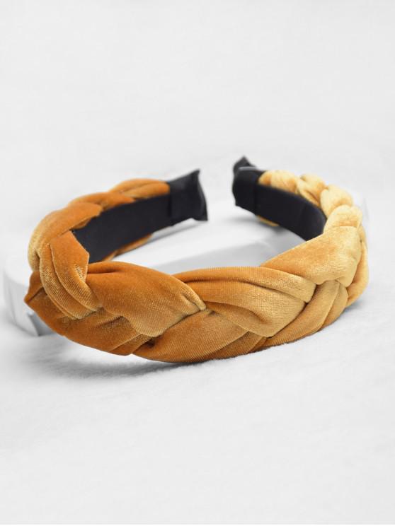 แป้งทอด Twist ออกแบบคาดศีรษะ - สีส้มทอง