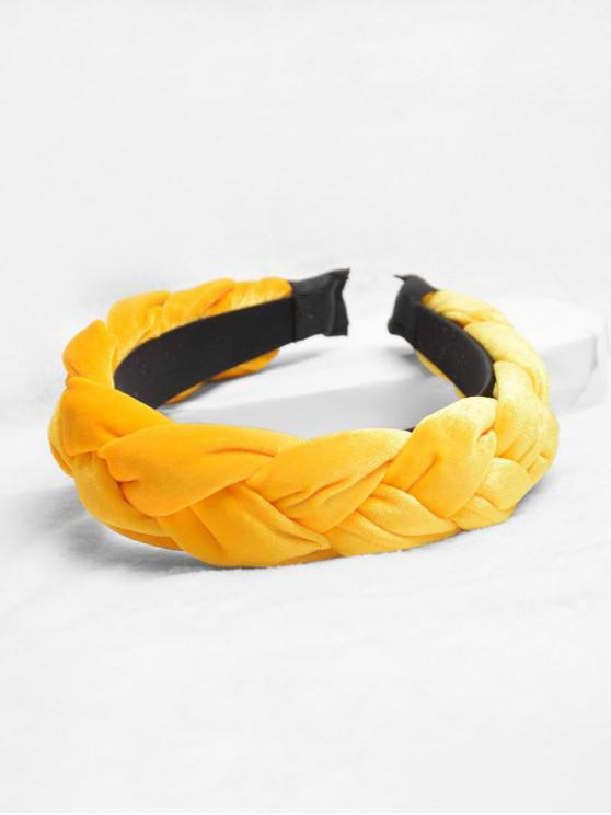 แป้งทอด Twist ออกแบบคาดศีรษะ - สีเหลือง