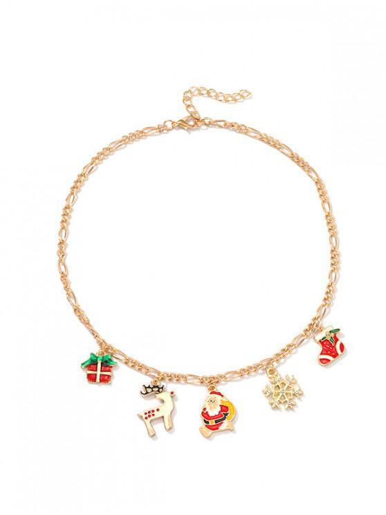 Clavícula del collar colgante creativo de Navidad - Multicolor-A