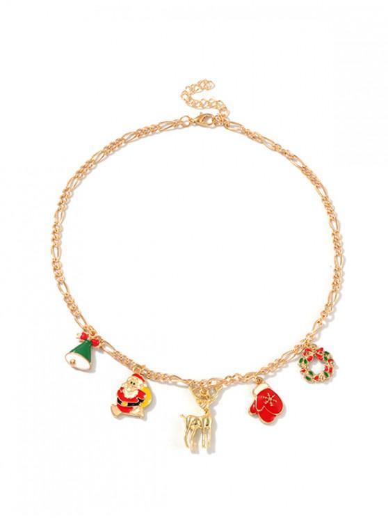 online Creative Christmas Pendant Collarbone Necklace - MULTI-B