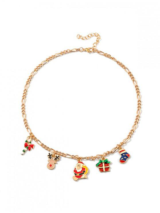 shop Creative Christmas Pendant Collarbone Necklace - MULTI-C
