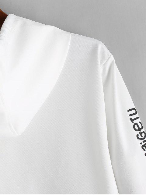 Letra de modelo con capucha Ocio - Blanco XS Mobile