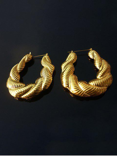 Сплав Крупногабаритные Серьги Твист - Золотой  Mobile