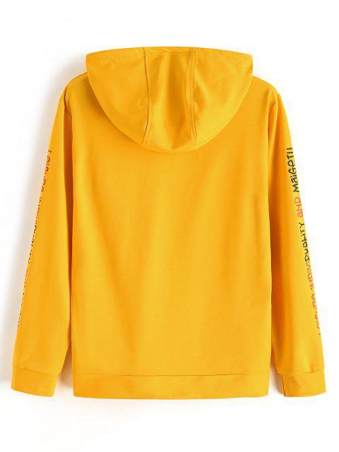 Letra de modelo con capucha Ocio - Amarillo XS Mobile