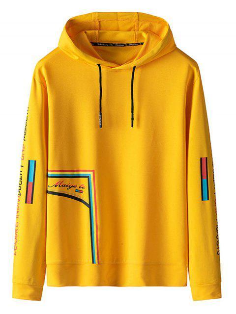 Letra de modelo con capucha Ocio - Amarillo S Mobile