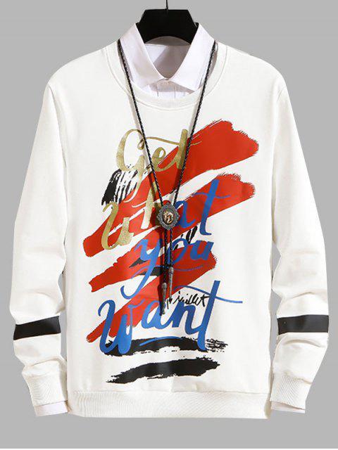 Carta Gráfica ocasional de la camiseta - Blanco M Mobile