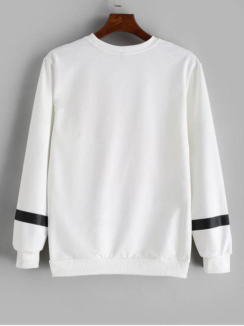 Carta Gráfica ocasional de la camiseta - Blanco L Mobile