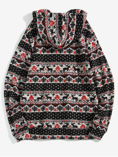 Modelo de la Navidad Wapiti informal con capucha - Negro XL Mobile