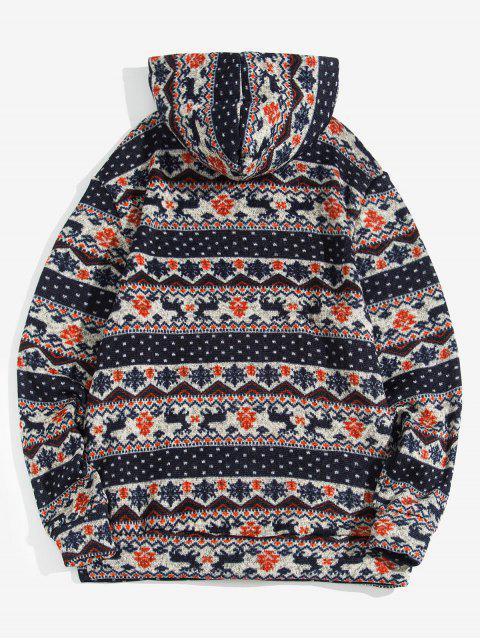 Modelo de la Navidad Wapiti informal con capucha - Cadetblue L Mobile