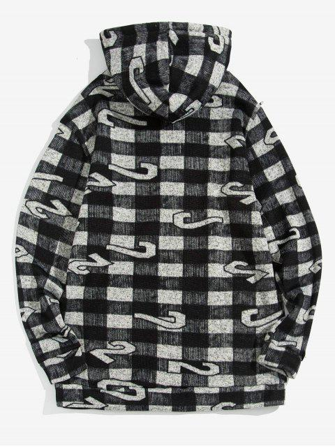 Tela escocesa Figura Pattern capucha Ocio - Negro S Mobile