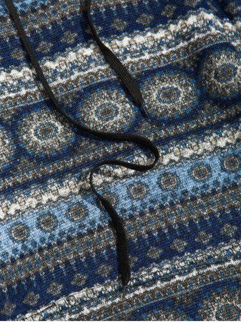 Modelo tribal con cordón informal con capucha - Cadetblue 2XL Mobile