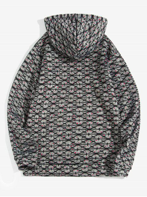 Modelo cruzado de bolsillo canguro con capucha informal - Gris Oscuro S Mobile