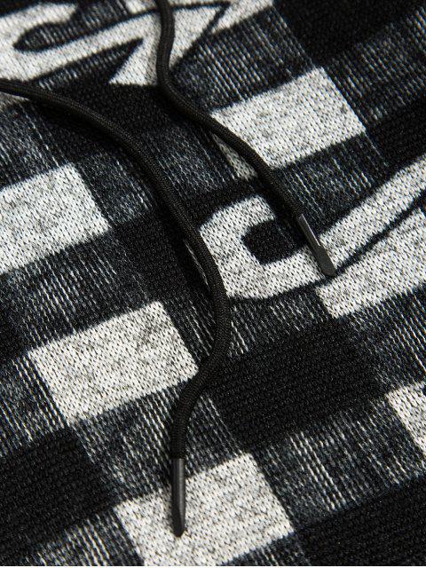 Tela escocesa Figura Pattern capucha Ocio - Negro L Mobile