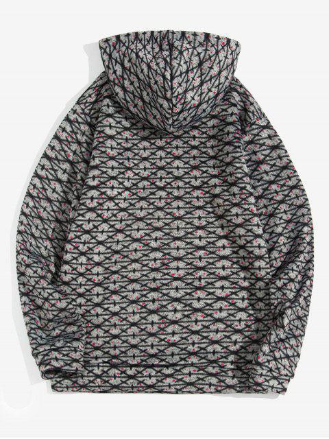 Modelo cruzado de bolsillo canguro con capucha informal - Gris Oscuro L Mobile