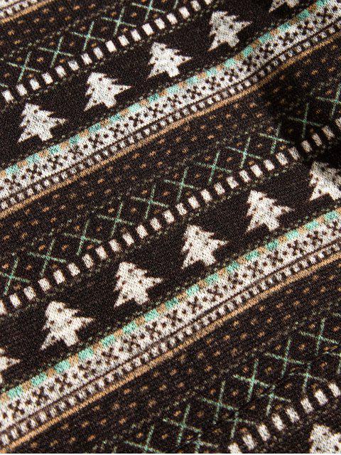 Modelo del árbol de navidad casual con capucha - Café Profundo L Mobile