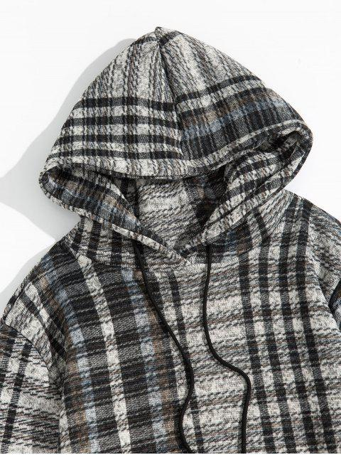 Modelo de la tela escocesa ocasional del bolsillo de Diseño con capucha - Gris 2XL Mobile