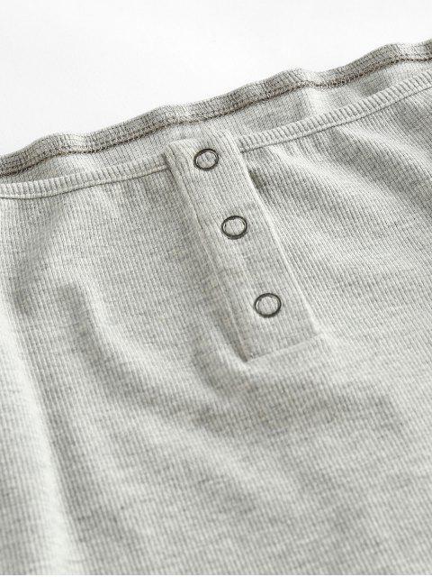 online ZAFUL Snap Button Off Shoulder Cropped Knitwear - PLATINUM XL Mobile