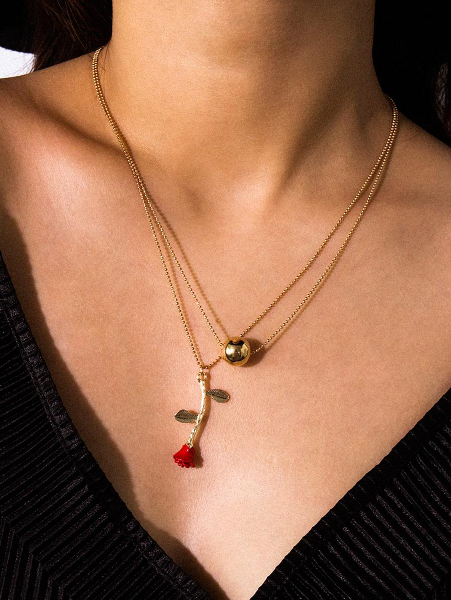 Double Chain Chain Necklace  Double Chain Chain Necklace