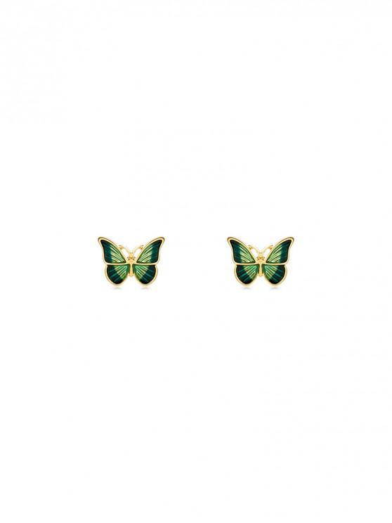 best Butterfly Glazed Mini Stud Earrings - GOLD